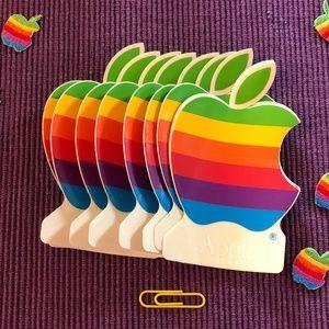 10 Apple Stickers Circa 1986